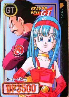 Vegeta & Bra (his daughter she looks exactly like her mom Bulma), Dragon Ball GT