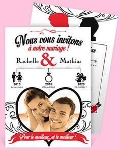 Faire-part mariage réf. N24134 chez monFairePart.com