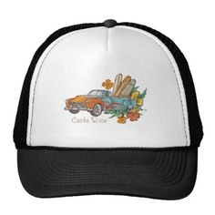 #customize - #Costa Rica Surfing Hotrod Surfer's Trucker Hat