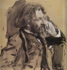 Portrait of the Artist Ilya Repin - Valentin Serov