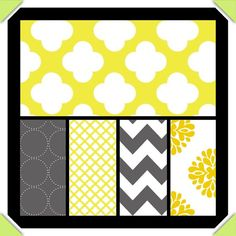 Customized Crib Bedding yellow and grey by DandelionBabyblanket, $299.00