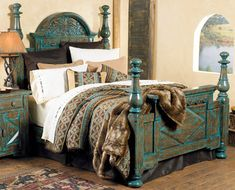 Western Decor, Western Furniture & Cowboy Decor~~~I want this    hmmm wonder how these colors would look in my new bathroom?