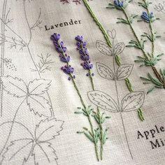 #刺繍 #embroidery #青木和子 #lavender #手芸