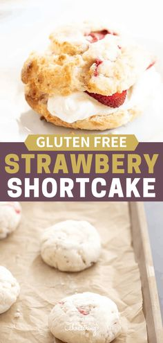 This easy gluten free strawberry shortcake recipe is the classic summer dessert that everyone loves. Make the biscuits ahead of time and be ready to serve in minutes! Best Gluten Free Desserts, Foods With Gluten, Gluten Free Baking, Strawberry Shortcake Recipes, Strawberry Recipes, Sin Gluten, Easy Summer Desserts, Dessert Recipes, Biscuits