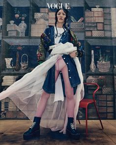 Choi Jung Mi by Hong Jang Hyun for Vogue Korea Aug 2016