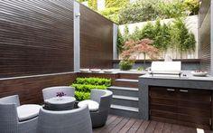 40 Wonderful Stunning Landscape Design Ideas for Your Small Backyard Small Backyard Design, Small Backyard Landscaping, Outdoor Kitchen Design, Patio Design, Exterior Design, House Design, Backyard Ideas, Small Patio, Garden Design