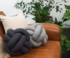 The knot cushion is the must-have accessory for your home, couch or bed! Each cushion is hand sewn, stuffed and knotted from a cotton blend fabric with poly Knot Cushion, Knot Pillow, Cushions On Sofa, Pillows, Couch, Design House Stockholm, Backrest Pillow, Hand Sewing, Knots