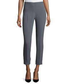Marcia Slim-Leg Ankle Pants, Women's, Size: 4, Sharkfin - Elie Tahari