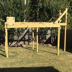 Find the latest on how to elevate your at home ninja warrior gym Backyard Gym, Backyard Obstacle Course, Backyard Playground, Backyard For Kids, Backyard Landscaping, Kids Obstacle Course, Playground Ideas, Backyard Ideas, Kids Ninja Warrior