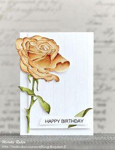 Sketchy Rose Stamp Set - Altenew  - 1
