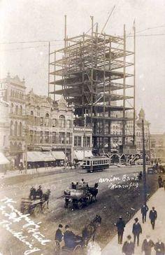 Historic Sites of Manitoba: Union Bank Building / Royal Bank Building Main Street, Winnipeg) Union Bank, Royal Bank, Banks Building, Lds Temples, Red River, Historical Sites, Main Street, Maine, Past