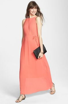c934840d913 Pleated Chiffon Maxi Dress (Nordstrom Exclusive)