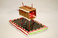 Top 10 Deliciously Modern Gingerbread Houses- Arctic Retreat