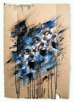 The Dirty Cream: Artistes Abstract Portrait, Portrait Art, Portraits, Inspiration Art, Art Inspo, Studios D'art, Advanced Higher Art, Ap Drawing, Art Ideas For Teens