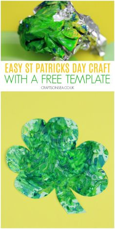 Grab our free template for an easy St Patricks Day craft that's super quick to set up with this simple shamrock craft St Patricks Day Crafts For Kids, St Patrick's Day Crafts, St Patrick Day Activities, Activities For Kids, Fun Projects For Kids, Painting Activities, Toddler Preschool, Templates, Simple