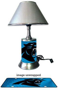 Carolina Panthers Lamp by GiftsbyJS on Etsy