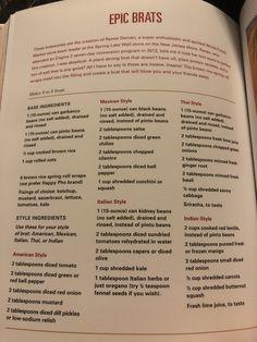 Epic brats Plant Based Eating, Plant Based Diet, Plant Based Recipes, Raw Vegan, Vegan Vegetarian, Vegetarian Recipes, Whole Food Recipes, Diet Recipes, Cooking Recipes