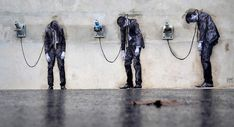 * Site specific Street Art by Levalet