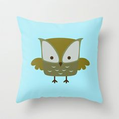 Owl Throw Pillow by LookHUMAN  - $20.00