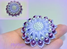 I have never seen a flower like this and it is so cool! I love the puffiness and the incorporation of the beads