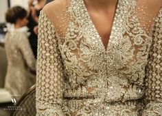 Faraz Manan debuted his A/W 15 collection in Dubai, a range of gowns that combined crystal and beaded embellishments with an attention to detail that we see in only the most dedicated couturiers. We've been able to access both the backstage and runway images; so you can see the show from start-to-finish. Enjoy…