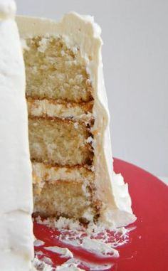 Vanilla Bean Buttermilk Cake with Amaretto Buttercream by esther
