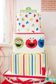 Sesame Street themed 1st birthday party via Kara's Party Ideas KarasPartyIdeas.com Invitation, cake, food, supplies, recipes, and MORE! #sesamestreet #sesamestreetparty (33)
