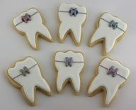 Braces / Orthodontist cookies Repin & Follow my pins for a FOLLOWBACK!