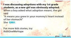 As someone who is adopted, I truly appreciate this...
