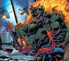 Ultimate Green Goblin vs Spider-Man by Mark Bagley Green Goblin Spiderman, Spiderman Art, Manado, Marvel Heroes, Marvel Comics, Marvel Dc, The Sinister Six, Marvel Ultimate Spider Man, Amazing Fantasy 15