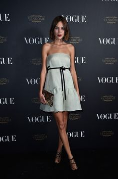 Alexa Chung attends the Vogue 95th Anniversary Party on October 3, 2015 in Paris, France.