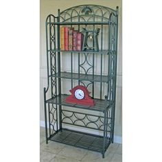 Iron FiveTier Bakers Rack Finish Green * Learn more by visiting the image link. (Amazon affiliate link)