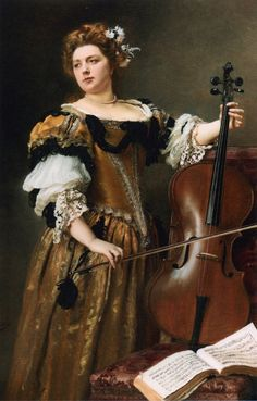 artsandcrafts28: The Cello Player Gustave Jean Jacquet unknown date