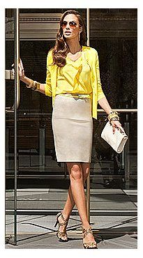 Bold Beautiful Yellow with Khaki