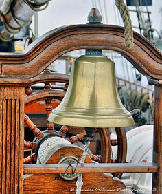 Ship's Bell, via Flickr. Beyond The Sea, Ship Wheel, Sail Away, Tall Ships, Nautical Theme, Belle Photo, Great Photos, Sailing Ships, Lighthouse