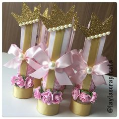 Baby Shower Princess, Princess Party, Baby Shawer, Princesa Disney, Girl Shower, Candyland, Craft Gifts, Pink And Gold, First Birthdays