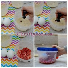 Easter Eggs fun ways to dye Easter Eggs, Did you know you can do it with RICE and Food Color and it turns out amazing, Easter hacks, Speckled Eggs, Popular tricks