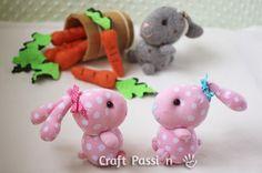 Stuffed Sock Bunny Rabbit Toys DIY Craft Project