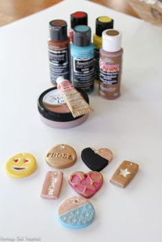 Air dry clay keychains are a super fun and easy project! Get the full supply list and tutorial in this post!