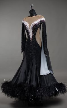 Ballroom Dress, Dance Dresses, Occasion Dresses, Pearl White, Swarovski Crystals, Pearls, Formal Dresses, Sleeves, How To Wear