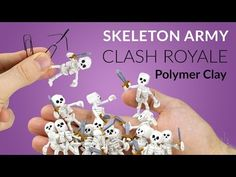 Skeleton Army (Clash Royale) – Polymer Clay Tutorial – Wooden Guild