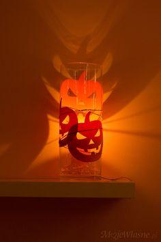 Lampion na haloween – dynie w szkle – Moje Własne