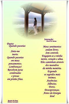 Quando paseias... José Lópes Cabral e Nieves Mª Merino Guerra - Duetos, Trietos, e mais... - Casa dos Poetas e das Poesias