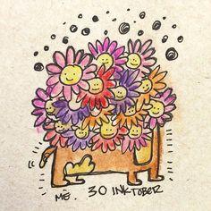 #inktober Day 30 • un perro floreado