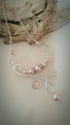Wire wrapped pearl glass beads
