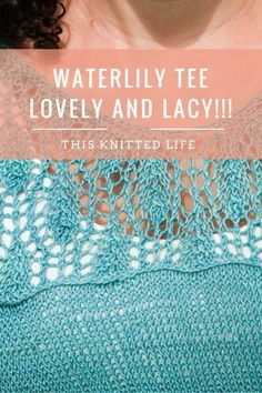 All the deets on knitting Waterlily by Meghan Fernandes. Perfect summer top!