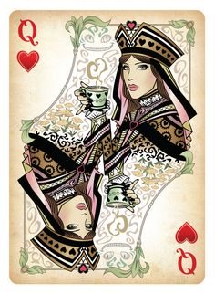 Queen of Hearts Card | The Queen of Hearts Playing Card by *Sketch2Draw on deviantART