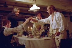 Still of Russell Crowe, Paul Bettany, James D'Arcy and Robert Pugh in Master and Commander: The Far Side of the World