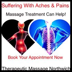 Massage Therapist  Fully Qualified Therapist.  Fully Insured Therapist. (FREE FACIAL MASSAGE WITH EVERY TREATMENT BOOKED) Web sites www.therapeuticmassagenorthwich.co.uk Facebook site:  www.facebook.com/ginawalton1971