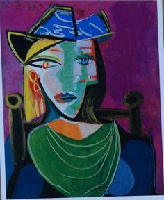 Picasso, Mujer con cuello verde, 12 febrero 1938, oleo sobre lienzo